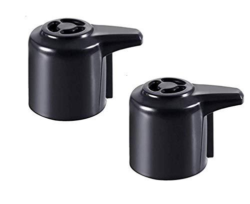 Steam Release Vavle Handle(Pressure Valve) for Instant Pot Duo Mini 3 Qt, Duo Plus Mini 3 Qt, DUO60 6 Qt and DUO80 8 Qt Programmable Pressure Cooker(Pack of 2,Black)