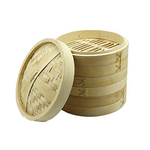 Steamed bamboo Basket Steamer Chinese dessert Cooker Set Steamed dumplings multisize 3pcs