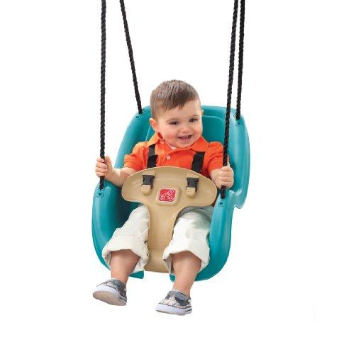 Step 2 Infant to Toddler Swing Seat - Durable Outdoor Baby Chair Fun Toy, Turquoise