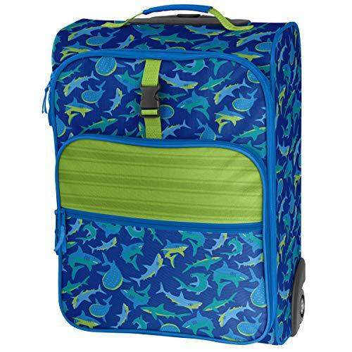 Stephen Joseph Boys' All Over Print Rolling Luggage, Shark Kid's Backpack, Size