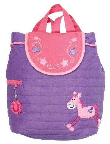 Stephen Joseph Childrens Cotton Quilted Backpack, Horse