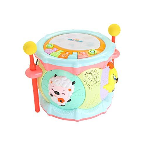 STOBOK Plastic Music Drum Electronic Hand Clapping Musical Instrument Educational Telling Story for Baby Kids without Battery (Random Color)