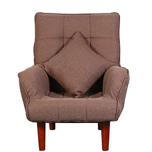 Stools MEIDUO Durable Single Sofa Chair Bedroom Sofa Leisure Reading Chairs for Balcony Living Room for Equally ideal for both home and Indoor outdoor (Color : Coffee color)