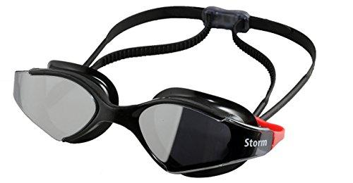 Storm Bluefin Fitness UV Swim Goggle - Black w/Mirror Lenses