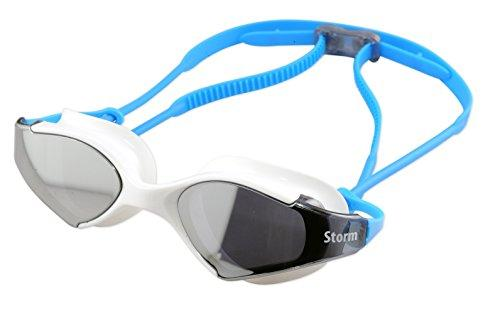 Storm Bluefin Fitness UV Swim Goggle - White w/Mirror Lenses