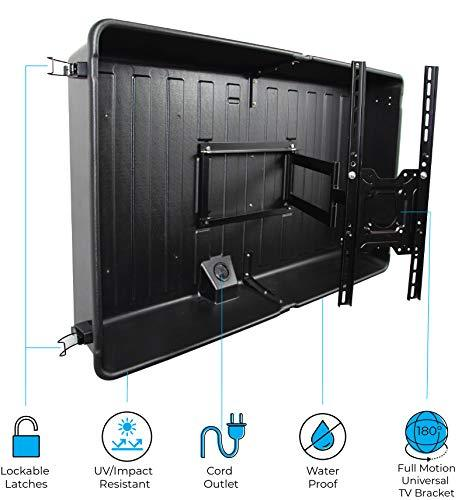 "Storm Shell Outdoor TV Hard Cover Weatherproof Protection for 45""-55"" inch Television - Mounts Right on The Wall - TV Wall Mounting Bracket Included"