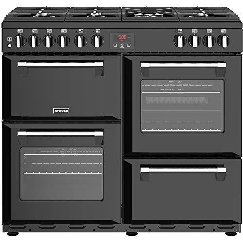 Stoves Belmont 100E Freestanding Electric A/Rated Range Cooker -Black