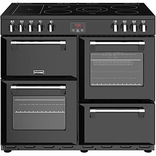 Stoves Belmont 90E Freestanding Electric A/A/A Rated Range Cooker -Black
