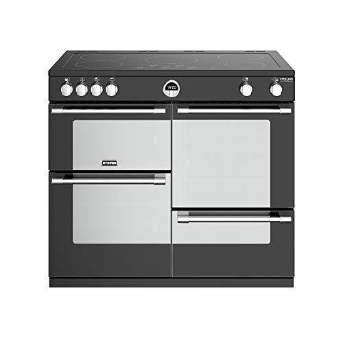 Stoves Sterling Deluxe S1000EI Freestanding A/A/A Rated Electric Range Cooker -Black