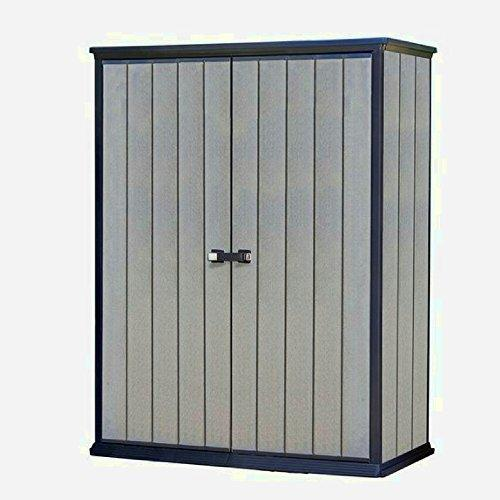STS SUPPLIES LTD Plastic Storage Cupboard Shed Garden Unit Large Cabinet Box Grey Containers Indoor External Lockable Garage Utility Heavy Duty Shelving Furniture Tool Weatherproof &E Book