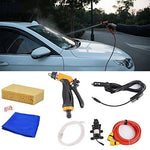 STYLINGCAR Electric Car Washer Pump High Pressure Car Washer Pump 12V Adjustable Foam Cannon Portable (Cleaning Kit)