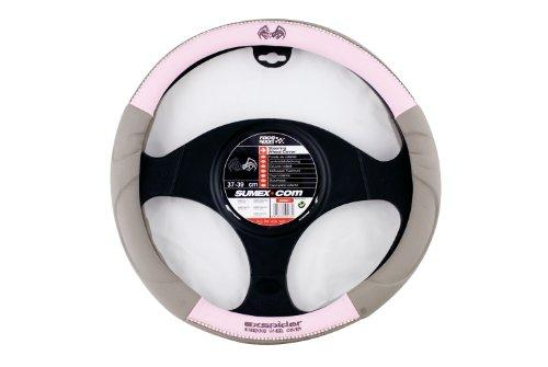 SUMEX PVC Dub-Blink with Diamonds Steering Wheel Cover - Pink