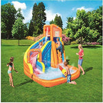 Summer New Oversized Water Slide Inflatable Swimming Pool, Baby Paddling Pool Ocean Ball Pool Outdoor Surfing Windsurfing, Inflatable Toys A-365 * 320 * 270cm