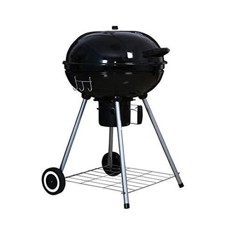 SUNHAO Charcoal Barbecues Barbecue furnace round drum grill smoked furnace large car portable