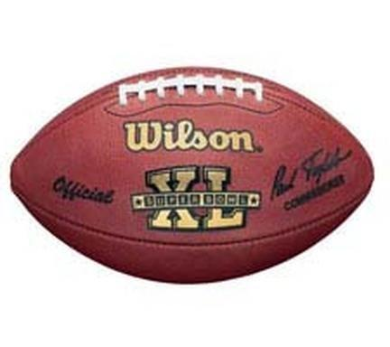 Super Bowl XL Official Game Football by Wilson - Pittsburgh Steelers vs. Seattle Seahawks by Wilson