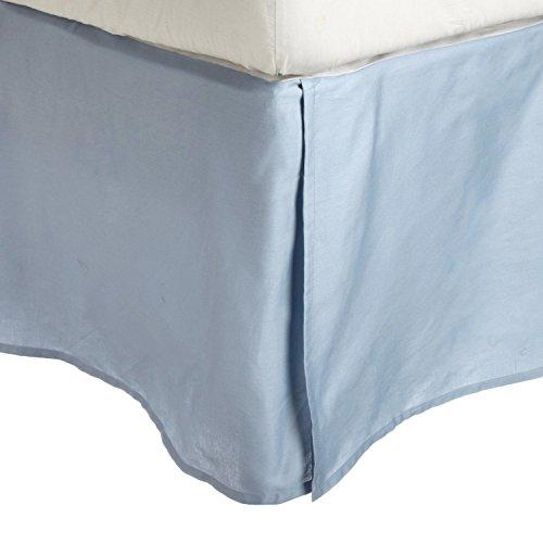Superior 3000 Series Wrinkle Resistant Microfibre Base Valance Sheet, Bed Skirt with Open Corners and 38 cm Drop, Eastern King, Light Blue