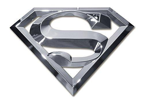 Superman 3D Chrome ABS Car Emblem