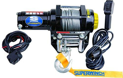 Superwinch 1140220 Winch Single Line Pull with Roller Fairlead/Handlebar Mount Toggle/Handheld Remote, 12 V DC