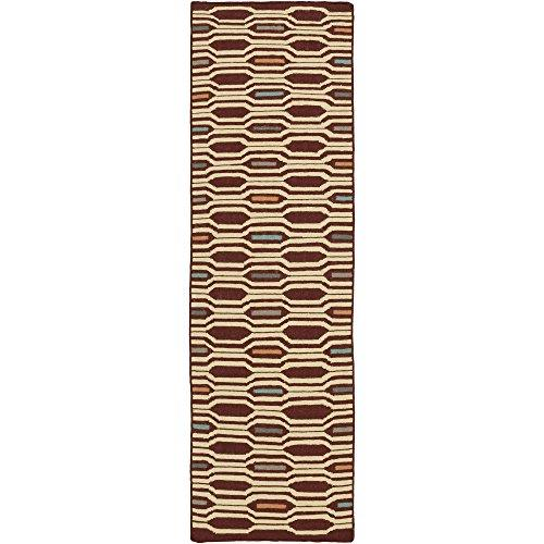 Surya Frontier FT-505 Hand Woven 100-Percent Wool Geometric Runner Rug, 2-Feet 6-Inch by 8-Feet