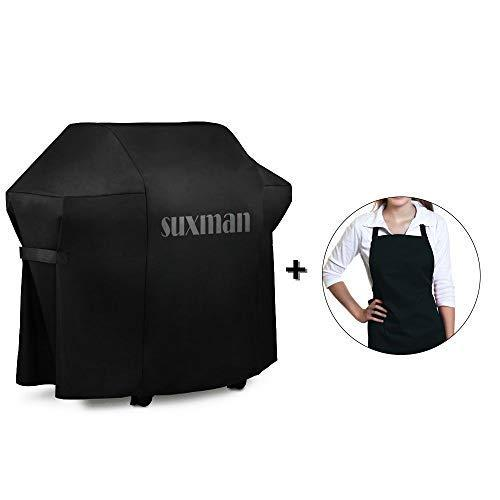 Suxman Grill Cover, Outdoor Heavy Duty Oxford Waterproof 60-inch Large Universal Barbecue BBQ Gas Grill Cover, UV and Fade, Rip Resistant, All Weather Protection for Most Brands of Grill