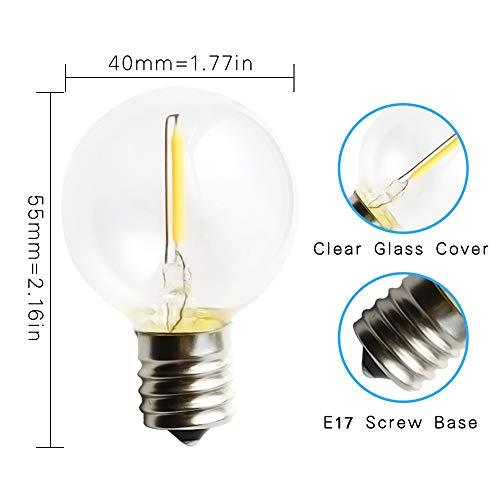 Replacement Bulbs For String Lights Amazing Svater 60 Pack G60 LED String Lights Replacement Bulb E60 Screw Base