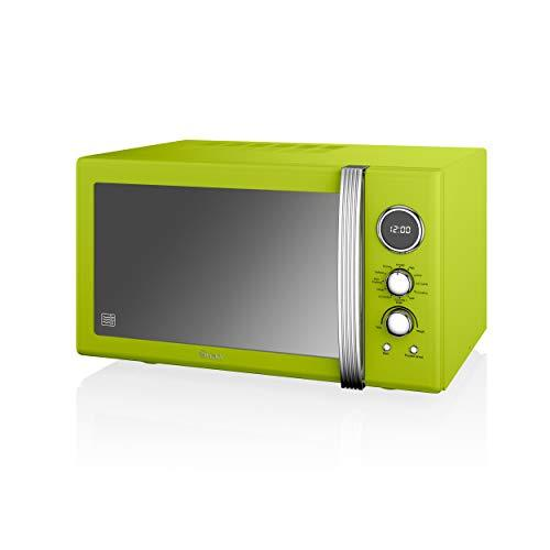 Swan Retro SM22080LN Digital Combination Microwave with Convection Oven and Grill, 25 Litre, 900W, Green [Energy Class E]