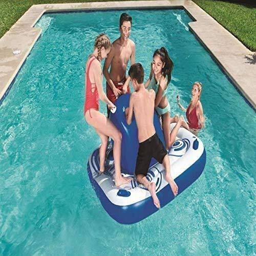 Swim Party Toys Inflatable Raft Water Buoyant Island Inflatable Plaything Adult Drifting Row Inflatable Bed Water Floating Sphere Toy Swimming Pool Toy 1.65X1.65M, O&YQ