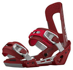 Switchback Session Snowboard Bindings, Red, Small/Medium