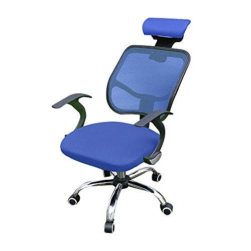 Swivel Mesh Back Office Desk Chair Computer Lounge Adjustable Executive Chairs Home Furniture (Blue)