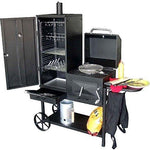 Syntrox Germany Bovini, 2 barbecue BBQ/grill/smoker, with wheels