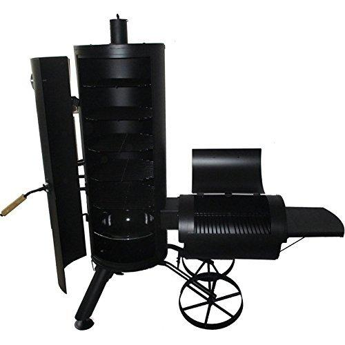 Syntrox Germany Smoker Leptobos 2 Barbecue BBQ Grill Smoker Charcoal Barbecue with Wheels