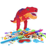 T-Rex Dinosaur Piñata Birthday Party Kit - Sweets Favours Blindfold & Buster