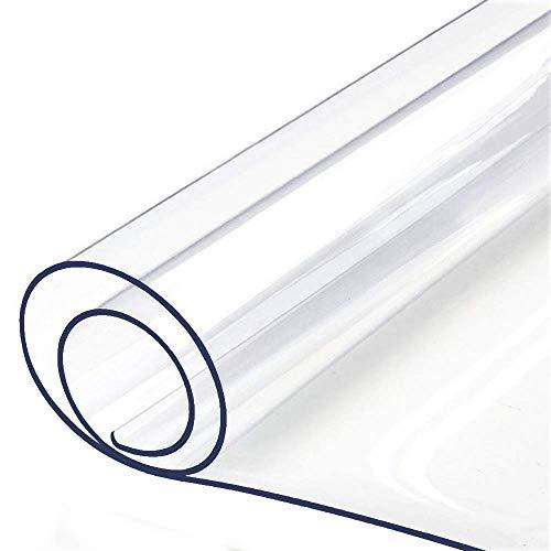 "Table Protector Clear Plastic Tablecloth Large Furniture Protector Waterproof Wipeable Vinyl Tablecloth PVC for Rectangle Dining Tables Mat Pad Good for 30"" 72 Inch or 32"" 72 Inch Table 80 X 183 CM"