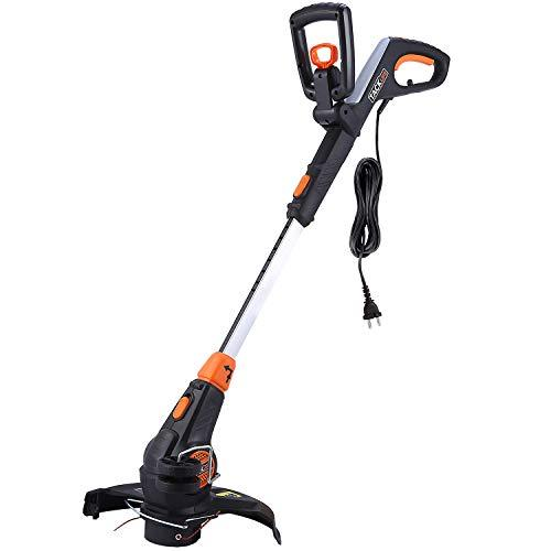 TACKLIFE GGT1A 600W Electric Grass Trimmer, with Cutting Diameter 30cm, Automatic Double Line Feed, Adjustable Second Handle, Vertical Edge-Cutting Angle, Plant Guard