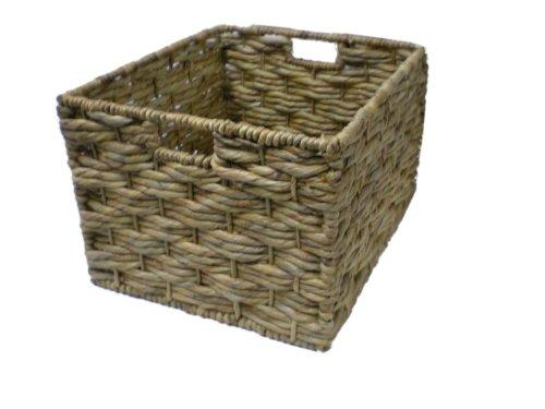 Tall Wicker Storage Basket (Water Hyacinth) - Extra Large