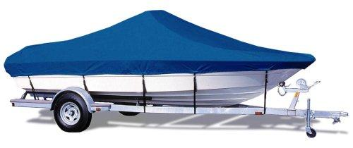 "Taylor Made Products Trailerite Semi-Custom Boat Cover for Bay Style V-Hull Center Console Boats with Outboard Motors (22'5"" to 23'4"" Center Line Length / 102"" Beam, Pacific Blue Coated Poly)"