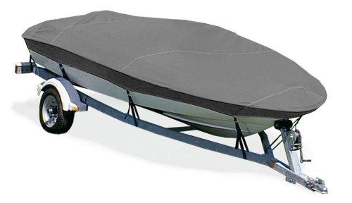 "TaylorMade Products Trailerite Semi-Custom Boat Cover for V-Hull Fishing Boats with Inboard/Outboard Motor (16'5"" to 17'4"" Center Line Length / 85"" Beam, Gray Coated Poly)"