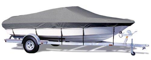 "TaylorMade Products Trailerite Semi-Custom Boat Cover for V-Hull Runabout Boats with Inboard/Outboard Motor (22'5"" to 23'4"" Center Line Length / 102"" Beam, Gray Coated Poly)"