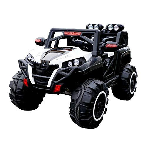 TBFEI 12v Children's Toy Car Remote Control Off-road Vehicle Can Sit People Electric Car Four-wheel Drive Male And Female Baby 1-8 Years Old Children Car Shock + Leather Soft Seat + Bluetooth