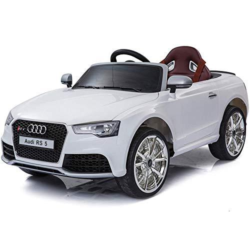 TBFEI Audi Authorized Children's Electric Car Four-wheeled Toy Car Can Sit Men And Women Baby With Remote Control Stroller Sports Car- Swing + Awning+Head Lights,Bluetooth Remote Controller