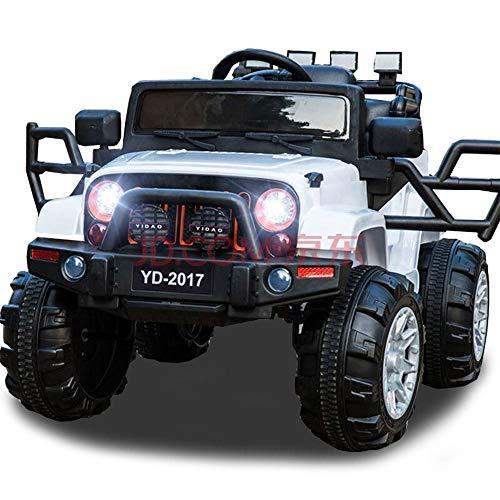 TBFEI Authorized 12V Four-wheel Four-wheel Drive Children Electric Car Can Remote Control Car Men And Women Baby Can Sit People Toy Stroller Head Lights+ Rocking Cradles + Wide Tire + Remote Control +