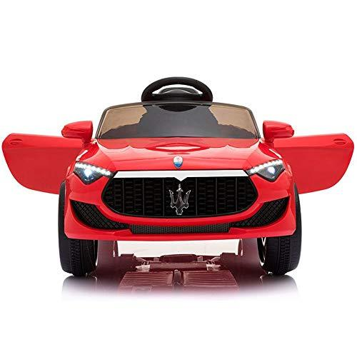 TBFEI Maserati Authorized Children's Electric Car Four-wheel Drive Double-drive Remote Control Car Child Toy Car Can Sit +12V Big Battery + Full Function + Hand Putter + Leather Seat Cover