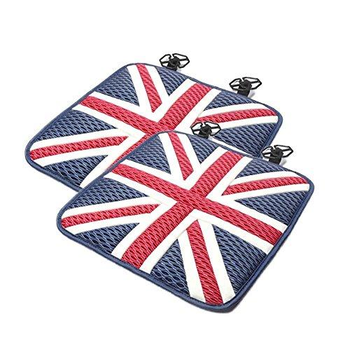tbparts 2pcs Ice Silk Car Seat Cushions Mat Pad Covers for Mini Cooper JCW One+ S Countryman Paceman R60 R61 R55 R56 F55 F56 Car Styling (red blue)