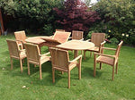TEAK GARDEN FURNITURE SET 8 SEAT SET