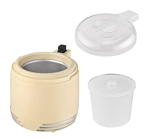 Team Kalorik 2-in-1 Ice Cream and Yoghurt Maker, Capacity of 1L of Yoghurt or 0.6L of Ice Cream, 15W, Beige, TKG Ice 2500