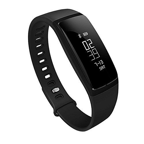 TechComm V5 Water-resistant Fitness Activity Tracker with Heart Rate Monitor, Blood Pressure Monitor, Pedometer and Sleep Monitor