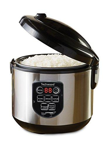 TECHWOOD Rice Cooker Stainless Steel 1 L