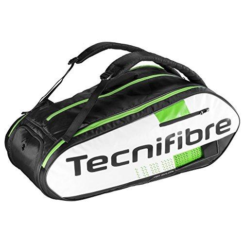 Tecnifibre Squash Green 12R Racket Bag, White, One Size