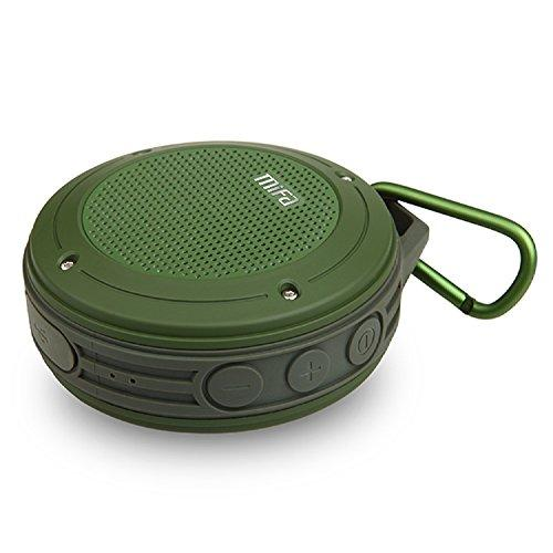 Tecson Extreme Lightweight Outdoor Bluetooth Speaker, Mifa F10 Waterproof Mini Car Speaker Subwoofer 5W Powerful Audio Amplifier with 3D Surround Stereo Hands-free and USB Sound Card Function,Perfect Hiking Camping Companion. (Army Green)