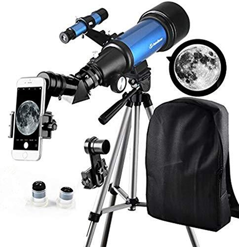 Telescope for Kids Beginners - Travel Scope 70mm Apeture Portable Telescope for Early Development Science with Backpack for Travel Carry Easily